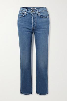 RE/DONE + Net Sustain Originals Stove Pipe Comfort Stretch High-rise Straight-leg Jeans - Light denim