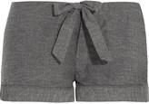 Bodas Montana herringbone brushed-cotton pajama shorts