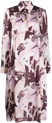 Victoria Victoria Beckham Abstract Print Shirt Dress