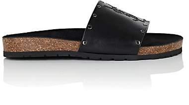 Saint Laurent Women's Jimmy Leather Slide Sandals - Black