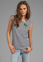 Sonia Rykiel SONIA by Butterfly Striped Jersey Tee