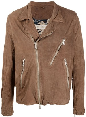 Giorgio Brato Zip Pocket Crinkled Jacket