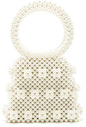 Shrimps Dante Faux-pearl Embellished Bag - Cream