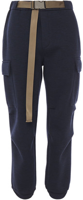 Brunello Cucinelli Belted Wool And Cotton-blend Track Pants