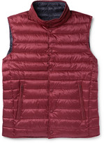Hackett - Reversible Quilted Shell Down Gilet