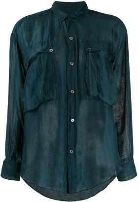 Katharine Hamnett Alex chiffon shirt