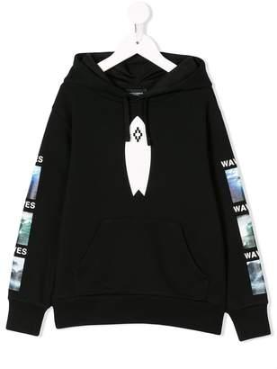 Marcelo Burlon County of Milan Kids waves print hoodie