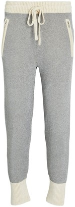 3.1 Phillip Lim Double-Faced Lurex Knit Joggers