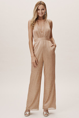 BHLDN Jelena Jumpsuit By in Beige Size 16