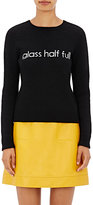 "Lisa Perry Women's ""Glass Half Full"" Wool-Cashmere Sweater"