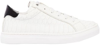 DSQUARED2 Croc Embossed Leather Sneakers