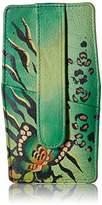 Anuschka Handpainted Leather 1729-ANB-G Credit Card Holder