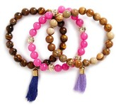 Women's Panacea Set Of 3 Bead Bracelets