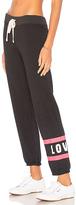 Sundry Love Stripes Sweatpant in Black. - size 1 / S (also in )