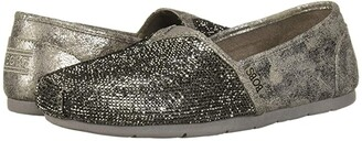 BOBS from SKECHERS Luxe Bobs - Tea Rose (Pewter) Women's Shoes