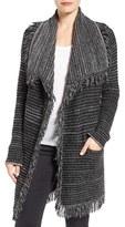 NYDJ Petite Women's Fringed Sweater Jacket
