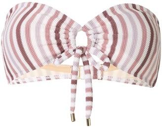 Peony Swimwear Striped Bandeau Bikini Top