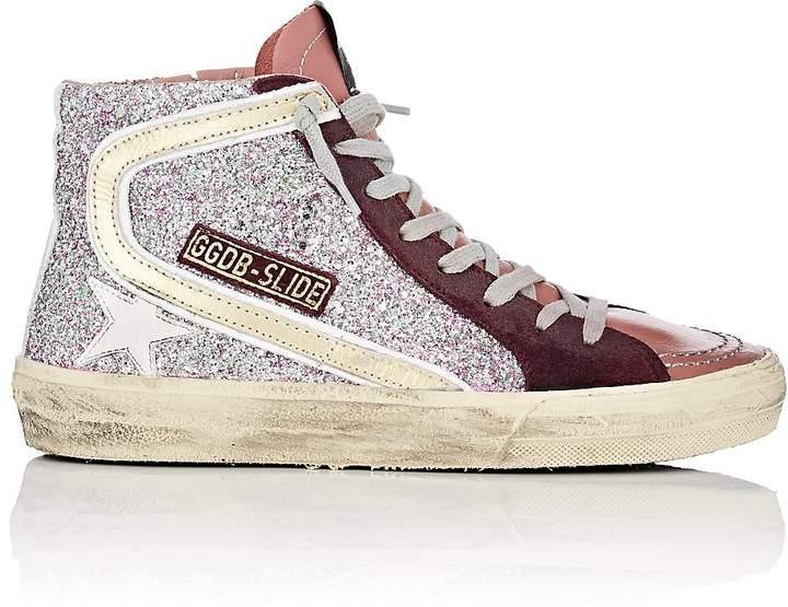 Golden Goose Women's Slide Glitter & Leather Sneakers