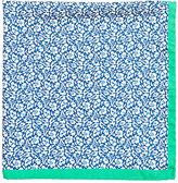 Barneys New York Men's Floral Twill Pocket Square-BLUE