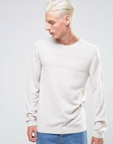 Asos Merino Mix Sweater with Textured Stitch
