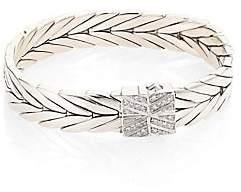 John Hardy Women's Modern Chain Diamond & Sterling Silver Small Bracelet