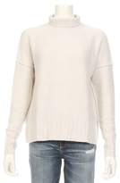 Autumn Cashmere Turtle Neck Reverse Seam Cashmere Sweater