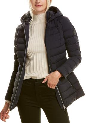 Mackage Kaila-R Medium Down Leather-Trim Jacket