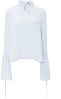 Derek Lam Crepe Blouse with Side Tie Detail