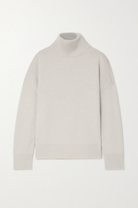 Co Wool And Cashmere-blend Turtleneck Sweater - Gray