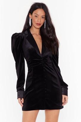 Nasty Gal Womens Out Of Touch Velvet Blazer Dress - Black - 4