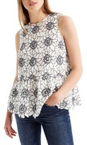 J.Crew Petite Women's Embroidered Floral Top