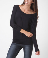 Bellino Navy Dolman Top