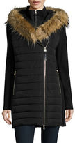 Calvin Klein Faux Fur Trimmed Hooded Quilted Parka