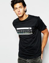 Quiksilver T-shirt With Logo Print - Black