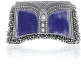 Mae Cassidy Zeenat Pearl Clutch Velvet Emperor Galaxy Blue