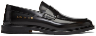 Common Projects Woman by Black Leather Loafers