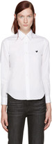 Comme des Garcons White Poplin Small Heart Shirt