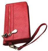 ABC® 1099 ABC® Hot Sale Women Wallets Dull Polish Leather Wallet Double Zipper Day Clutch Purse Wristlet Portefeuille Handbags