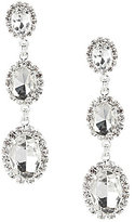 Cezanne Oval Trio Rhinestone Drop Earrings