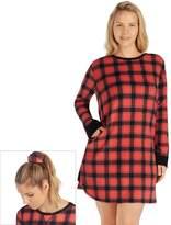 Cuddl Duds Plus Size Pajamas: Fleece Headband & Sleep Shirt PJ Set