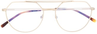 Lacoste Oversized Aviator-Frame Glasses