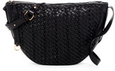 Kooba Sabine Woven Leather Saddle Crossbody