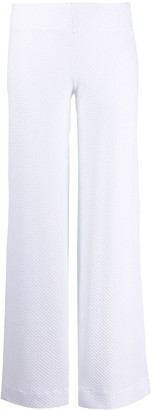 Fisico Embroidered Wide-Leg Trousers