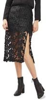 Topshop Women's Applique Lace Skirt