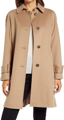 Fleurette Wool Raglan Sleeve Coat