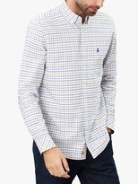 Joules Welford Check Shirt, White Blue Check