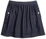 Brooks Brothers Denim Dot Skirt
