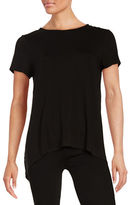 Vince Camuto Hi-Lo Mixed Media Tee