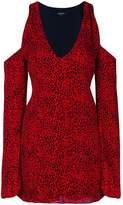 Amiri cold-shoulder leopard print mini dress
