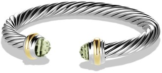 David Yurman Cable Classics Bracelet with Gemstones & 14K Yellow Gold